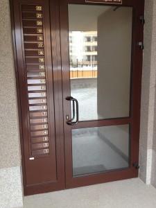 Алуминиева входна врата
